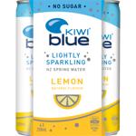 Kiwi Blue Lemon Lightly Sparkling NZ Spring Water 4pk