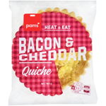 Pams Bacon & Cheddar Quiche 160g