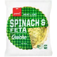 Pams Spinach & Feta Quiche 160g