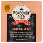 Ponsonby Pies Chicken & Vegies Gourmet Pie 235g
