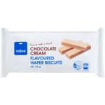 Value Chocolate Cream Flavoured Wafer Biscuits 125g