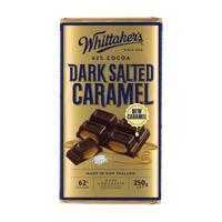 Whittaker's Dark Salted Caramel 62% Cocoa Dark 250g