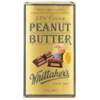 Whittakers Peanut Butter 33% Cocoa Milk 250g