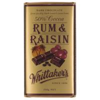 Whittakers Rum & Raisin 50% Cocoa Dark 250g