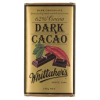 Whittakers Dark Cacao 62% Cocoa Dark 250g