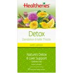 Healtheries Tea Detox Dandelion & Milk Thistle 20pk
