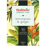 Healtheries Organic Lemongrass & Ginger Tea Bags 16ea