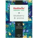Healtheries Organic Blueberry & Aronia Tea Bags 16ea