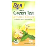 Bell Lemon & Ginger Zesty Green Tea Bags 24ea