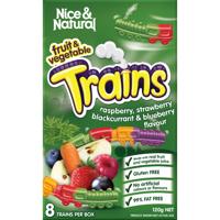 Nice & Natural Trains Fruit & Vegetable Snacks 120g
