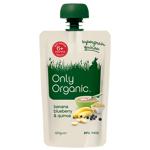 Only Organic Banana Blueberry & Quinoa 6+ Months 120g