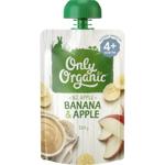 Only Organic Banana & Apple 4+ Months 120g