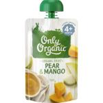 Only Organic Pear & Mango 4+ Months 120g