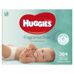 Huggies Baby Wipes Fragrance Free Baby Wipes 384ea