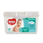 Huggies Fragrance Free Thick & Soft Baby Wipes 80ea