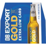 DB Export Gold Beer Extra Low Carb 330ml bottles 12pk