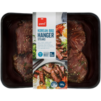 Pams Korean BBQ Hanger Steaks 300g