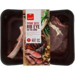 Pams Prime Beef Rib Eye On The Bone 450g