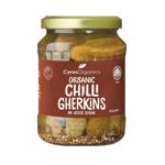 Ceres Organics Chilli Gherkins With No Sugar 670g