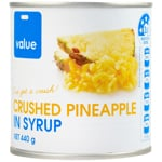 Value Crushed Pineapple In Syrup 425g