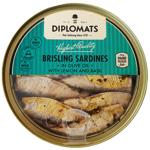 Diplomats Brisling Sardines With Lemon & Basil 180g