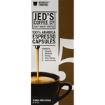 Jed's Coffee Co. Strength 5 Extra Strong 100% Arabica Espresso Capsules 10pk