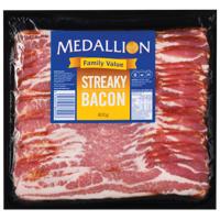 Medallion Sliced Streaky Bacon 800g