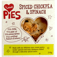 I Love Pies Spiced Chickpea & Spinach Pie 210g