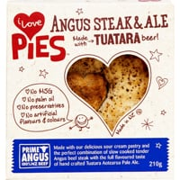 I Love Pies Angus Steak & Ale Pie 210g
