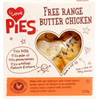 I Love Pies Free Range Butter Chicken Pie 210g