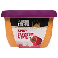 Turkish Kitchen Spicy Capsicum & Feta Dip 180g