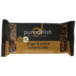 Pure Delish Ginger & Walnut Caramel Slab 400g