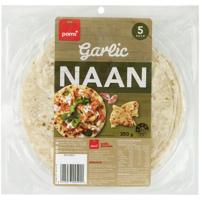 Pams Naan Garlic Flat Breads Indian Style 5pk