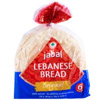Jabal Original Lebanese Bread 6pk