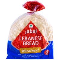 Jabal Wheatmeal Lebanese Bread 6pk