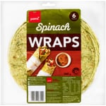 Pams Spinach Wraps 6ea