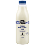 Puhoi Valley Fresh Organic Milk Homogenized 750ml