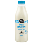 Puhoi Valley Fresh Organic Light Milk 750ml