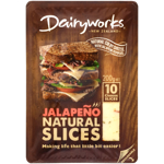 Dairyworks Jalapeno Cheese Slices 200g