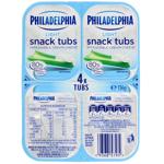 Philadelphia Light Snack Tub 4pk 136g