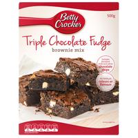 Betty Crocker Triple Chocolate Fudge Brownie Mix 500g