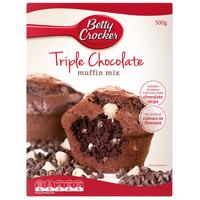 Betty Crocker Triple Chocolate Muffin Mix 500g
