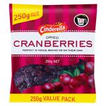 Cinderella Cranberries Dried 250g