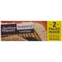 Huntley & Palmers Cracked Pepper Sesameal Crackers 200g