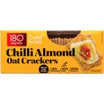 180 Degrees Chilli Almond Oat Crackers 150g