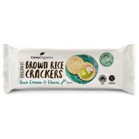 Ceres Organics Sour Cream & Chives Organic Brown Rice Crackers 6pk