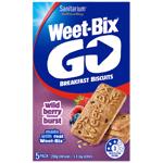 Sanitarium Weet-Bix Go Wild Berry Burst Breakfast Biscuits 250g