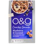 O&G Blueberry & Coconut Crunchy Granola 450g