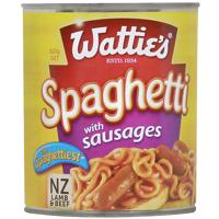 Wattie's Spaghetti With Sausages 820g