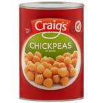 Craigs Chickpeas In Brine 400g